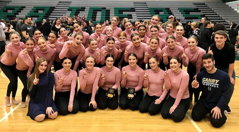 COURTESY PHOTO - The Canby dance team finished first in Modern, Contemporary and Kick at Reynolds High School on Nov. 17.