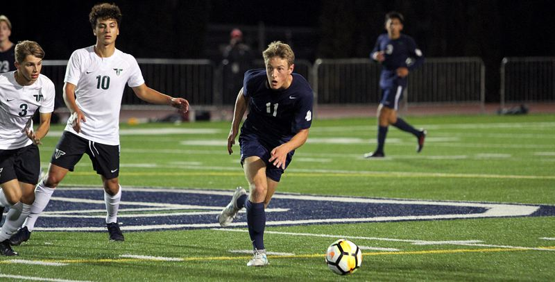 PMG PHOTO: MILES VANCE - Lake Oswego senior Aaron Rudder was one of two Lakers who won first-team all-Three RIvers League honors at the conclusion of the 2019 season.