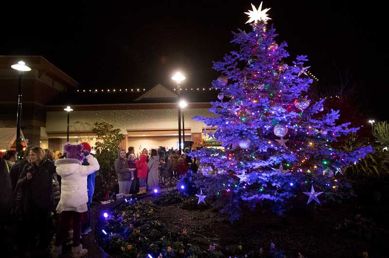 PMG FILE PHOTO - The City of West Linn will light the tree at this year's event Friday, Dec. 6 at 6 p.m.