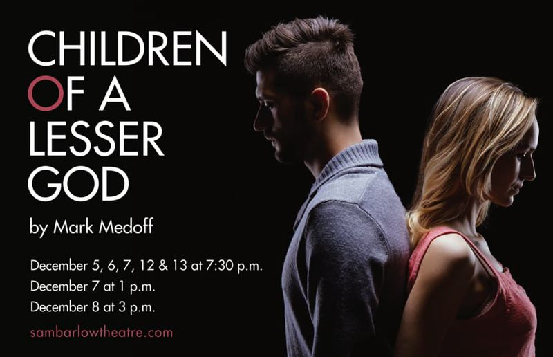 COURTESY PHOTO - Sam Barlow High School presents a production of Mark Medoffs Tony-award winning play Children of a Lesser God on Dec. 7, 8, 12 and 13. See listing for details.