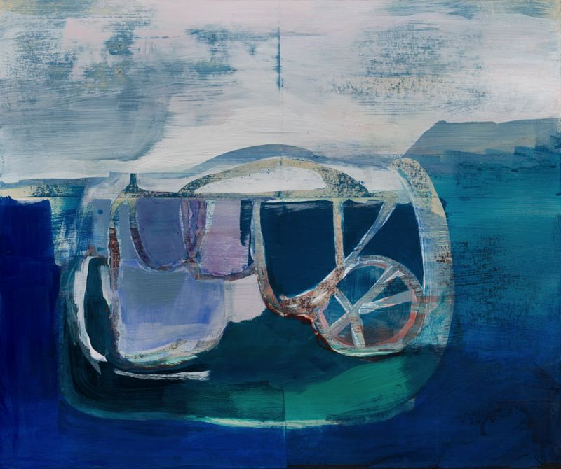 COURTESY PHOTO - Lisa Onstad's work, 'Low Tide,' is inspired by the turquoise blue coastline of Northern California.