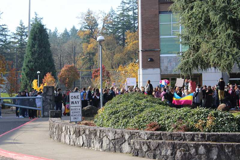 PMG FILE PHOTO - West Linn High School students recently walked out to draw attention to discrimination against LGBTQ+ students.