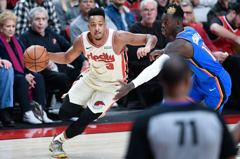 PMG PHOTO: CHRISTOPHER OERTELL - Pictured in a recent game against Oklahoma City, guard CJ McCollum (3) was one of several Trail Blazers who had big nights in Wednesday's win over Sacramento.