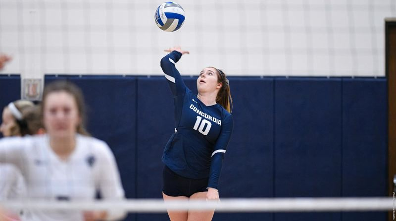 PMG PHOTO: CHRIS OERTELL - Callie Wilkins led Concordias volleyball team and ranked second in the Great Northwest Athletic Conference with 583 total digs and an average of 5.5 digs per set for the Cavaliers.