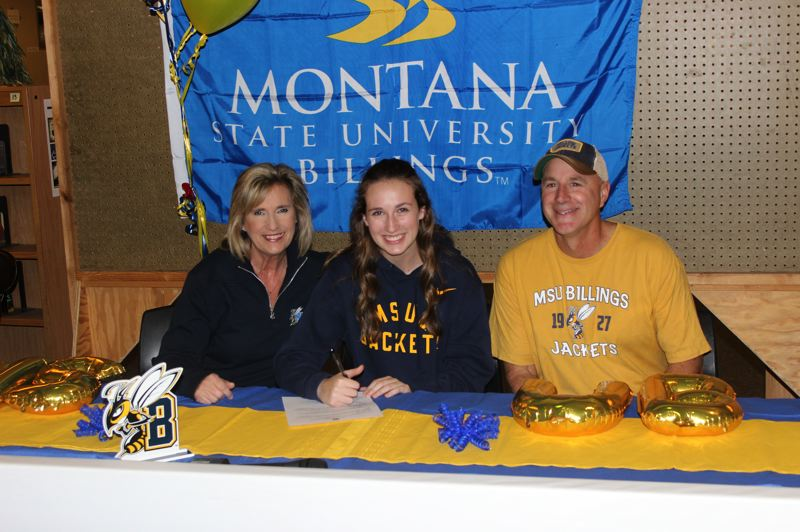 PMG PHOTO: DEREK WILEY - Wilsonville senior Kennedy Juranek signed to play volleyball at Montana State University Billings.