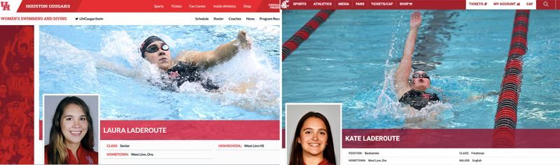 West Linn's Laura and Kate Laderoute swim to success at college