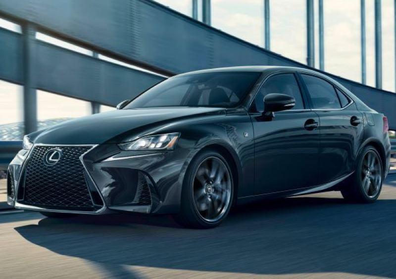 TOYOTA MOTOR NORTH AMERICA - The 2019 Lexus IS 350 AWD F Sport is designed to stand out — especially in the optional Blackline trim level.