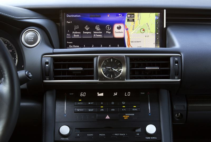 TOYOTA MOTOR NORTH AMERICA - The infotainment system in the 2019 Lexus IS350 AWD F Sport is refreshingly basic and even includes a hard-to-find CD players.