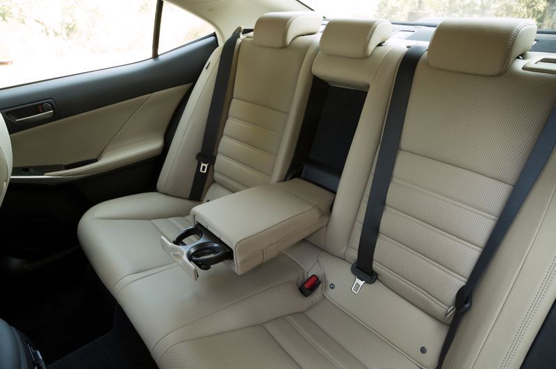 TOYOTA MOTOR NORTH AMERICA - As expected, he rear seats in the 2019 IS are cramped but premium (LS300 shown).