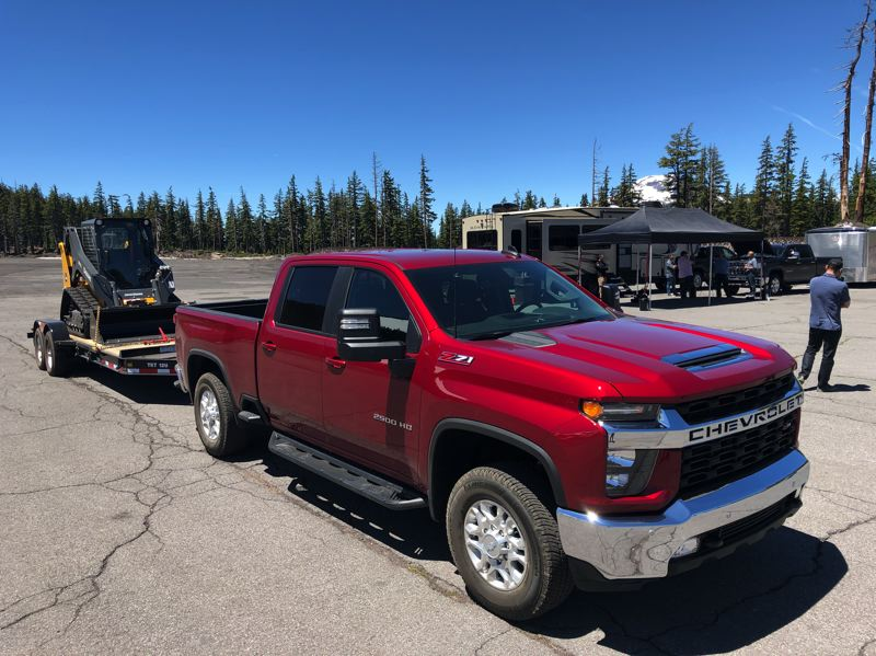 PMG PHOTO: JEFF ZURSCHMEIDE - Properly equipped, the 2020 Chevy Silverado HD can tow up to 35,500 pounds. It is available with either a 6.6-liter gas V8 or 6.6-liter turbodiesel.