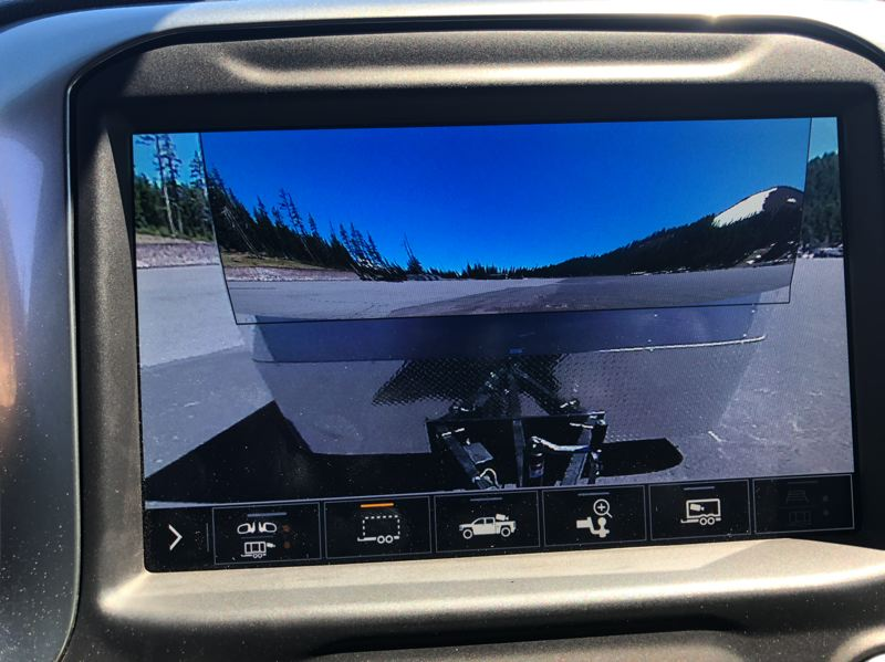 "PMG PHOTO: JEFF ZURSCHMEIDE - Chevrolet offers up to 15 different camera views in the 2020 Siverado HD, including a near-magical ""transparent trailer"" view that makes it look like the trailer ins't even there."