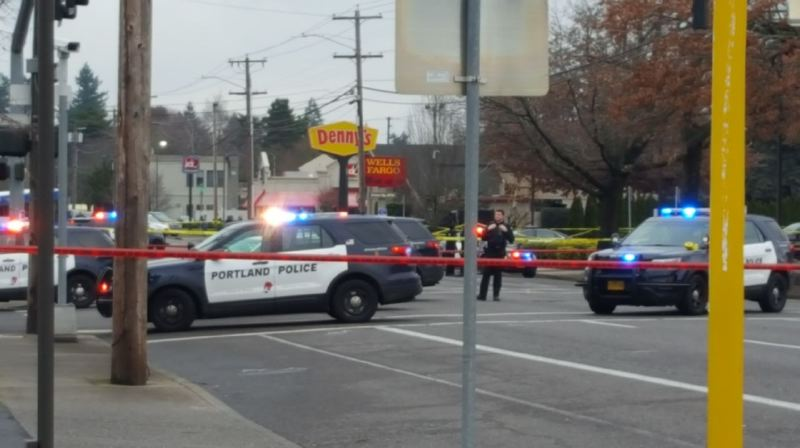 KOIN 6 NEWS - The scene of the Southeast Portland officer-involved shooting.