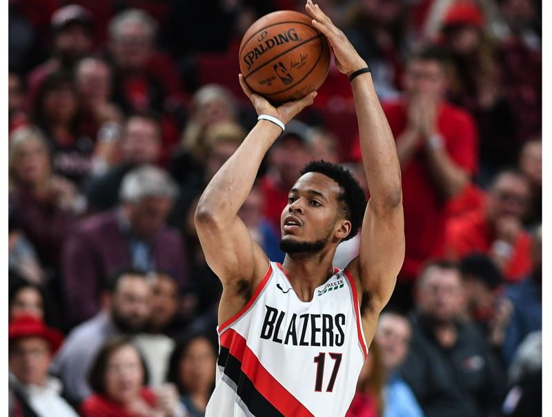 PMG PHOTO: CHRISTOPHER OERTELL - Forward Skal Labissiere is enjoying life with the Trail Blazers despite limited playing time so far