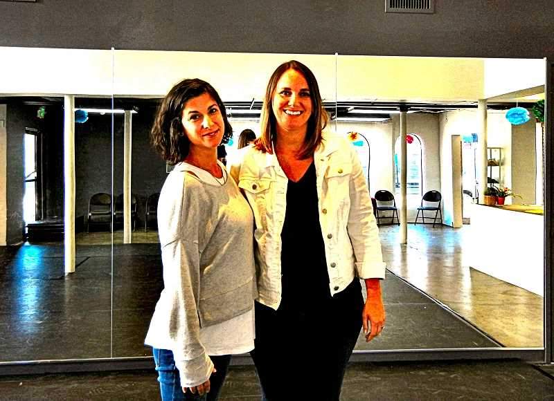ELIZABETH USSHER GROFF - Amber Black, left, and Jessie Nelson are co-owners of Pacific Dance Academy in Sellwood - a non-competitive and community-focused dance studio that promotes fitness and self-esteem through the art of dance.