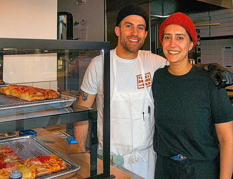 RITA A. LEONARD - Jessica and Justin Donais have opened Pizza Doughnais on S.E. Milwaukie Avenue in Brooklyn.
