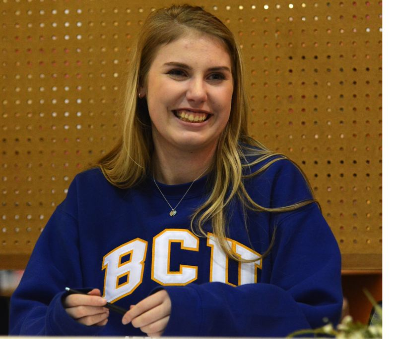 PMG PHOTO: DEREK WILEY - Wilsonville senior Paige Hinnant signed to play volleyball at Briar Cliff University.
