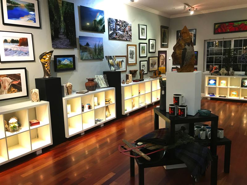 CREDIT  - Red Trillium Gallery boasts original paintings, prints and cards plus a trove of wearable art, sculpture, jewelry, glass, baskets and pottery featured in elegant vignettes.