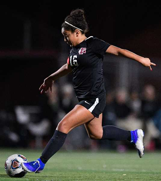 PMG PHOTO: CHRISTOPHER OERTELL - Forest Grove's Amy Gonzalez during a Vikings game this past season. Gonzalez was a first team all-league selection.
