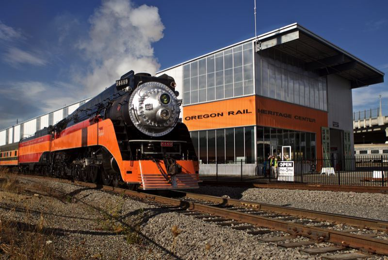 PMG PHOTO: JAIME VALDEZ - The Southern Pacific 4449 outside the Oregon Rail Heritage Center in inner Southeast Portland.