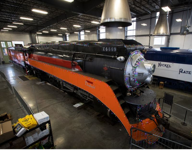 PMG PHOTO: JAIME VALDEZ - The Southern Pacific 4449 inside the Oregon Rail Heritage Center.