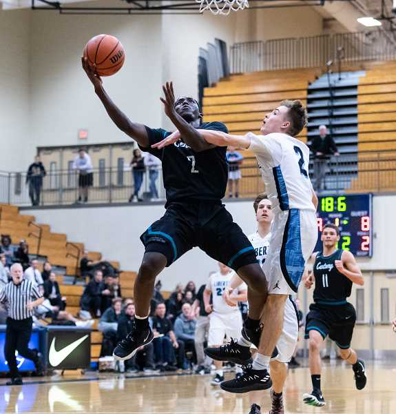 PMG PHOTO: CHRISTOPHER OERTELL - Century's Jospin Mugisha during a Jaguars game last season. Mugisha will be one of a handful of returners that Century will lean on for success this season.