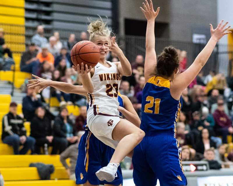 PMG PHOTO: CHRISTOPHER OERTELL - Forest Grove's Amanda Rebsom during a Vikings game last season. Rebsom was an honorable mention all-league selection last year as a sophomore, and will be a key contributor to this year's team's success.