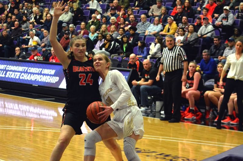 TIMES FILE PHOTO - Southridge senior point guard McKelle Meek and the Skyhawks hope to reach their fourth straight 6A title game.