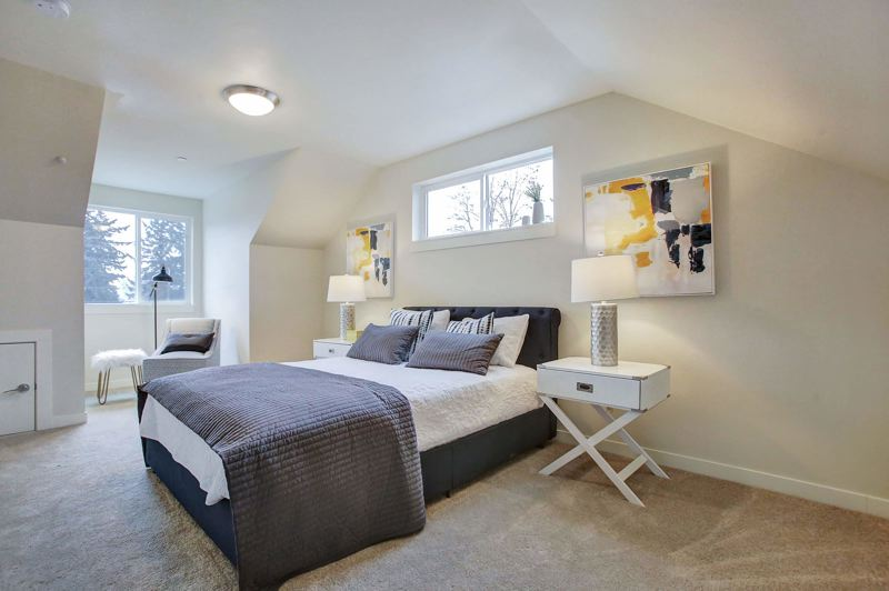 COURTESY NUHECDC - A third-floor bedroom in one of the townhomes at the Brunswick Crossing.