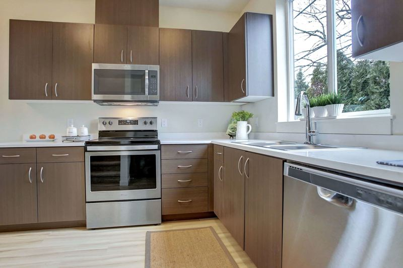 COURTESY NUHECDC - A kitchen in a townhome at Brunswick Commons.