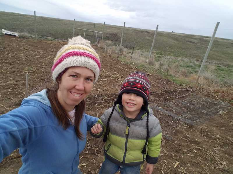 PHOTO COURTESY OF KEELIA CARVER - Keelia Carver poses with her son, Max, who died in an accident in February 2018. Keelia is now advocating for families to care for their own dead.