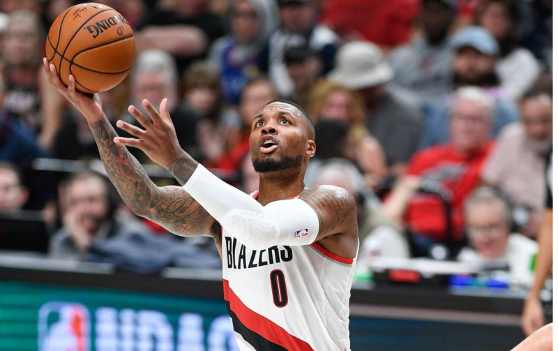 PMG FILE PHOTO: CHRISTOPHER OERTELL - Damian Lillard scored 31 points in 29 minutes Tuesday as the Blazers beat the Knicks.