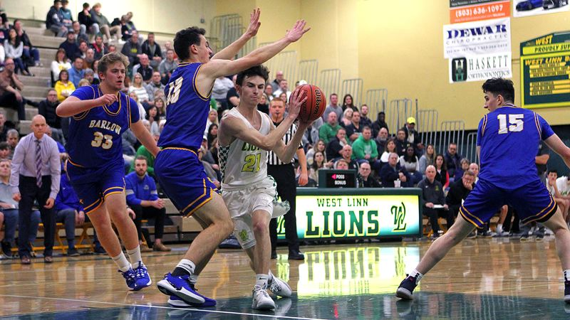 PMG PHOTO: MILES VANCE - West Linn senior guard Kelton Herrick and the Lions hope to be in the middle of the 2019-20 race for the Three Rivers League championship.