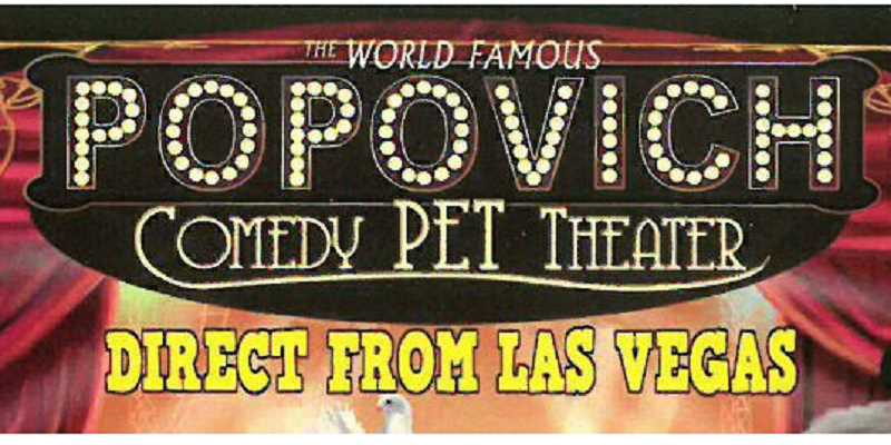 SUBMITTED - The Popovich Comedy Pet Theater will take the stage at the Madras Performing Arts Center Thursday, Dec. 12.