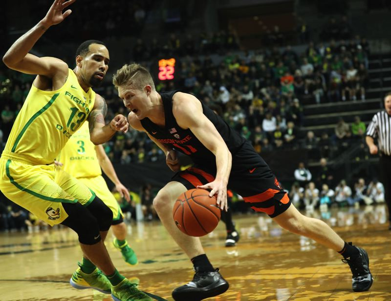 PMG FILE PHOTO: JAIME VALDEZ - Oregon State forward Zach Reichle from Wilsonville has settled into the Beavers starting lineup in his third season in Corvallis.