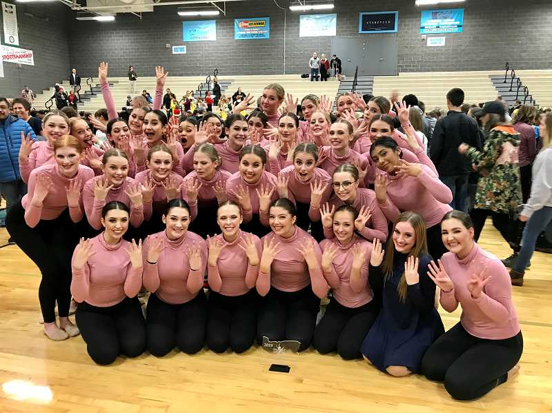 COURTESY PHOTO - Canby's dance team won its eighth straight Modern championship Saturday, Dec. 7 at Lakeridge High School.