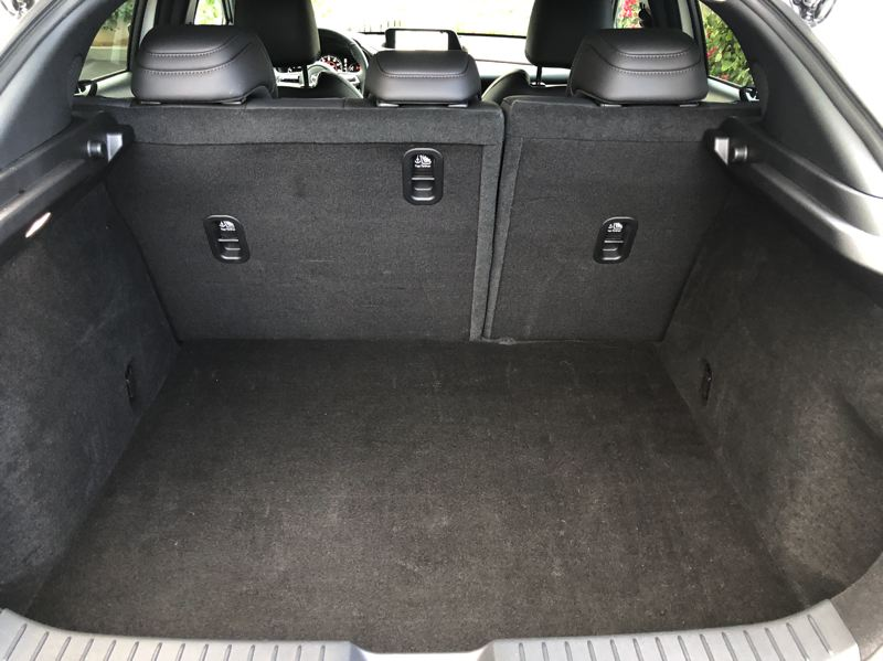 PMG PHOTO: JEFF ZURSCHMEIDE - Cargo space in rhe 2020 Mazda CX-30 is exceptional for a subcompact crossover.