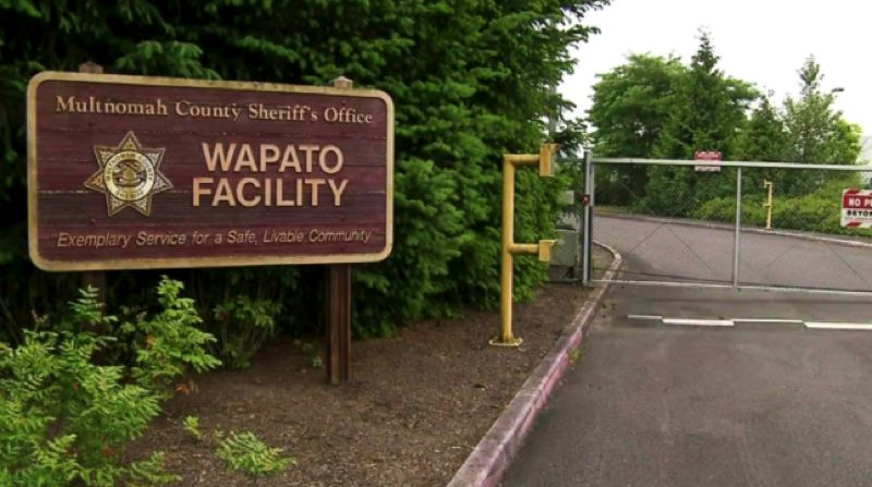 KOIN 6 NEWS - The former entrance of the never-used Multnomah County Wapato Jail.