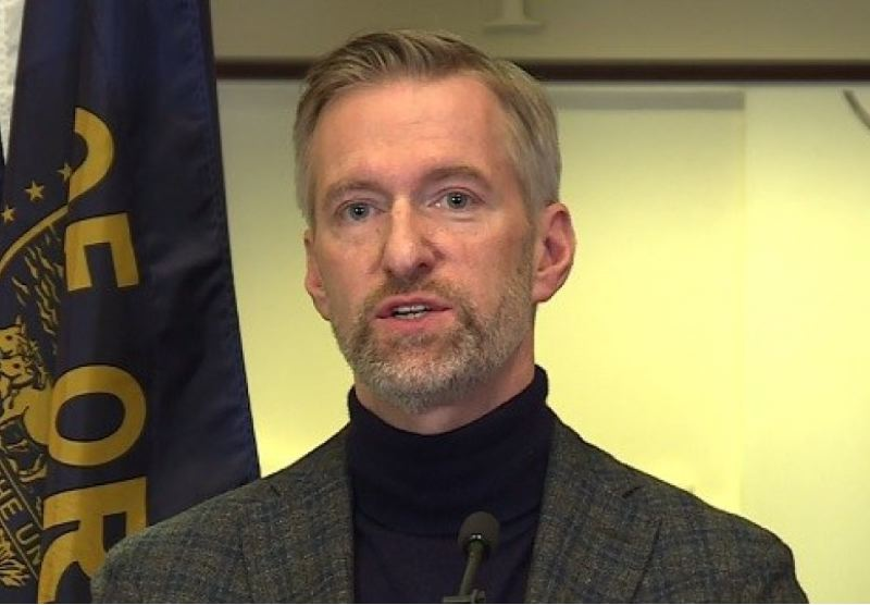 KOIN 6 NEWS - Mayor Ted Wheeler at a Dec. 13 press conference.