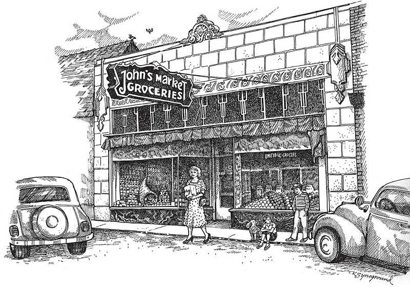 WWW.MULTNOMAHHISTORICAL.COM - The original John's Market was located on Southwest Capitol Highway.