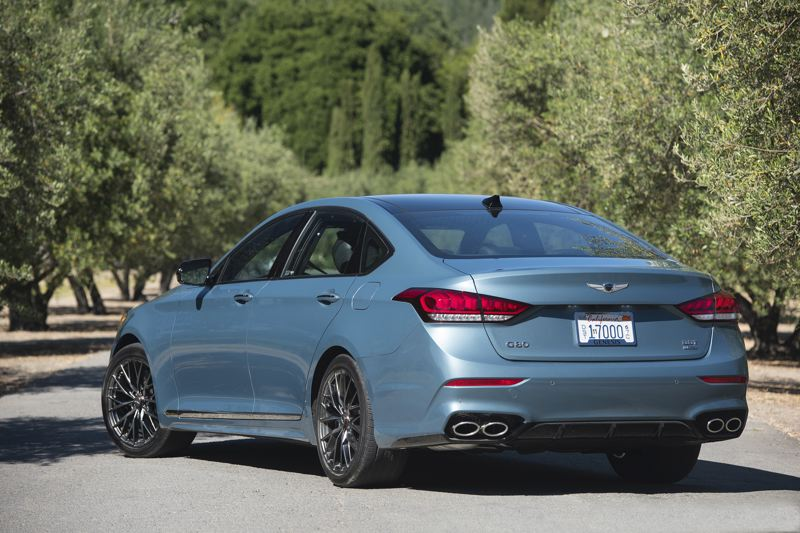 COURTESY GENESIS - The Genesis G80 AWD 3.3T Sport looks impressive from any angle.