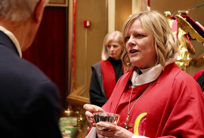 PMG PHOTO: ZANE SPARLING - Laurie Larson Caesar was installed as bishop of the Oregon Synod at Trinity Cathedral on Saturday, Dec. 14 in Portland.