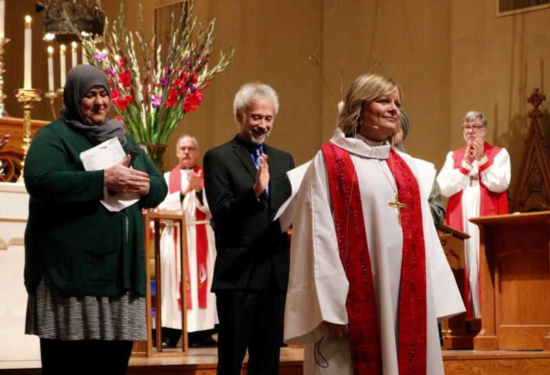 PMG PHOTO: ZANE SPARLING - Laurie Ann Larson Caesar is the first female bishop to be elected head of the Oregon Synod of the Evangelical Lutheran Church in America.