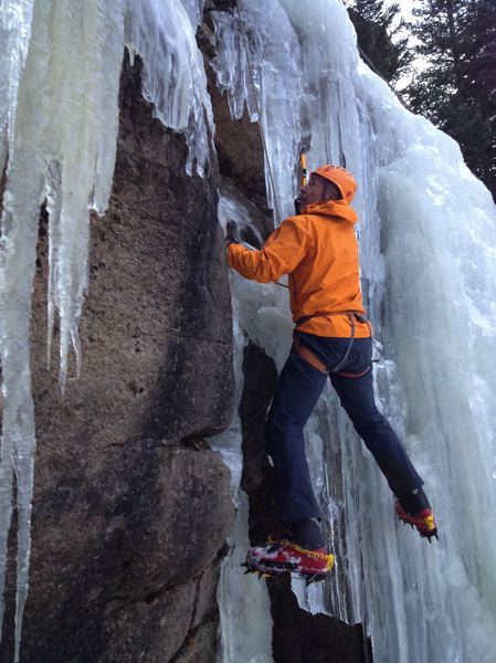 COURTESY PHOTO: BOG BERGER - Craig Hanneman, pictured ice climbing in 2013 in Colorado, summited three mountains in 2019 to complelte the Seven Summits.
