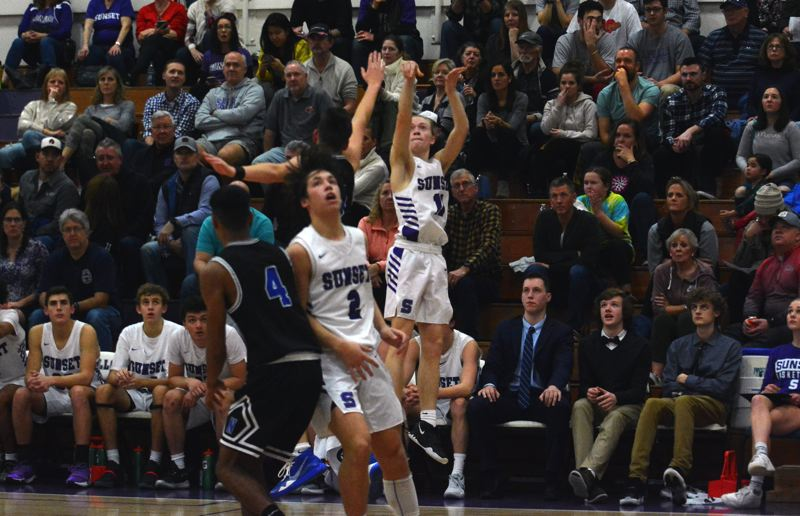 TIMES PHOTO: MATT SINGLEDECKER - Sunset senior guard Reece Arenz and the Apollos have Class 6A elite eight potential this year.