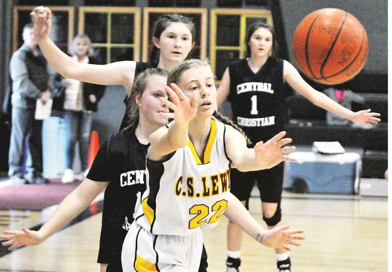 GRAPHIC PHOTO: GARY ALLEN - The CSLA girls team boasts only five players, two who have not played organized basketball in the past.