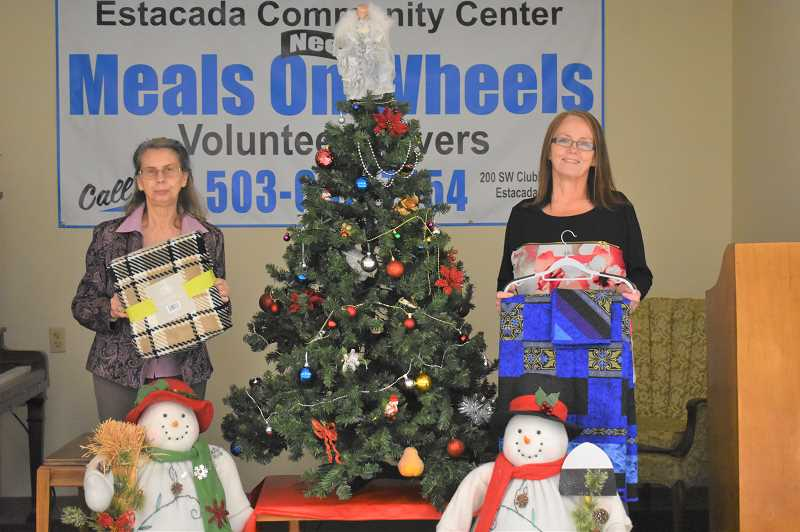 PMG PHOTO: EMILY LINDSTRAND - Estacada Community Center staff are excited about their new giving tree program.