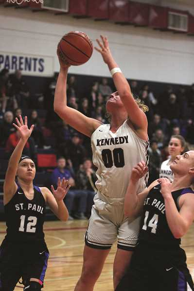 PMG PHOTO: PHIL HAWKINS - Kennedy senior and 2018 2A Player of the Year Sophia Carley enters her final season with the Trojans, providing Kennedy with a devastating two-way post presence.