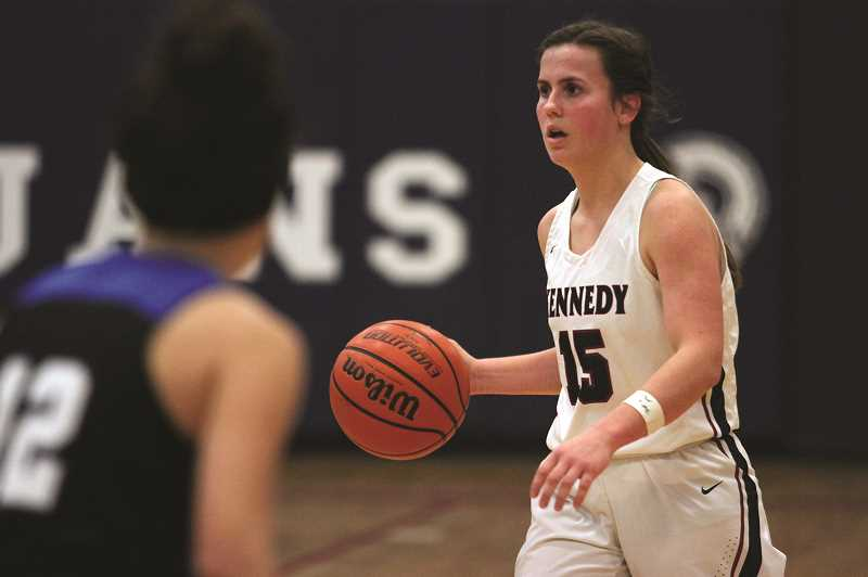 PMG PHOTO: PHIL HAWKINS - Kennedy junior Hailey Arritola will be looked upon this season to run the Trojans offense and provide the girls basketball team with a combination of perimeter defense and outside shooting.