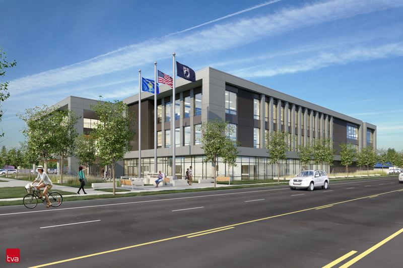 RENDERING COURTESY OF TVA ARCHITECTS - The new Gresham location for the Oregon Department of Human Services building will be more than three times the size of the current building at 96,000 square feet.