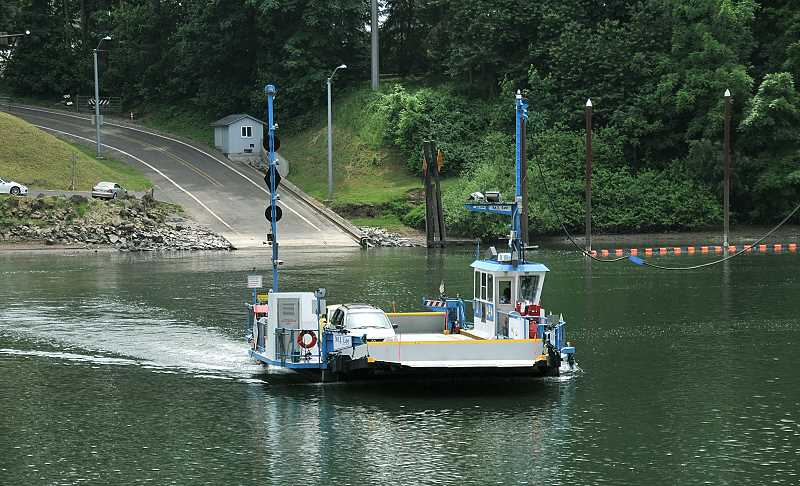 PMG FILE PHOTO - While many citizens were alarmed to hear Clackamas County was considering discontinuing the Canby Ferry, no definitve actions have been taken thus far.